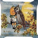 VEMOW Heißer Verkauf 2 STÜCK Happy Halloween Party Dekoration Kissenbezüge Leinen Sofa Kissenbezug Wohnkultur 18
