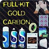 Kit di cubicatura effeto FIBRA DI CARBONIO COMPLETO GOLD HFC-098 - HYDRAWTP. Non include la maschera temporaneamente