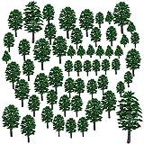 LDB SHOP 57 St.Mixed Modellbau Bäume 4-15cm Zug Bäume Eisenbahn Landschaft Diorama Baum Architektur Bäume für DIY Landschaft