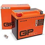 GP-PRO GTX12-BS 12V 10Ah GEL Batería de arranque (compatible con YTX12-BS / 51012) (Sin necesidad de mantenimiento/Sellado) M