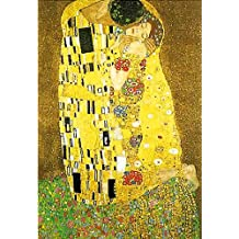 "Lamina/Impresión de Arte de Gustav Klimt ""Der Kuss/El beso"" (61cm x 91cm) + 1 paquete de tesa Powerstrips® (20 tiras)"