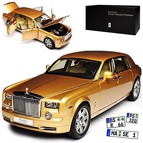 Kyosho Rolls Royce Phantom VII EWB Arizona Sun Gold 2003-2017 1/18 Modell Auto - Modell Rolls-royce Phantom