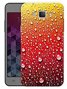 """Humor Gang Water Droplets - Red Printed Designer Mobile Back Cover For """"Samsung Galaxy A8"""" By Humor Gang (3D, Matte Finish, Premium Quality, Protective Snap On Slim Hard Phone Case, Multi Color)"""