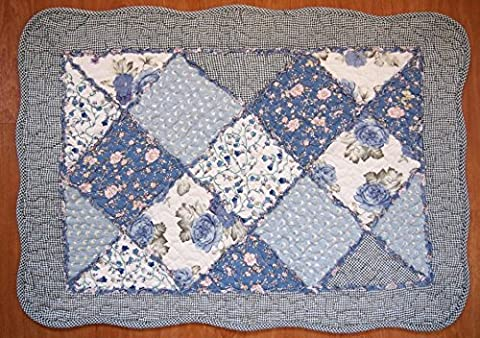 Shabby Chic Vintage Floral Patchwork Quilted Cotton Bedroom Bath Floor
