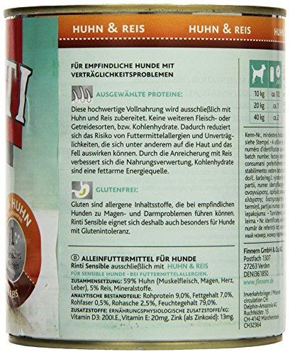 Rinti Hundefutter Sensible Huhn & Reis 800 g, 12er Pack (12 x 800 g) - 3