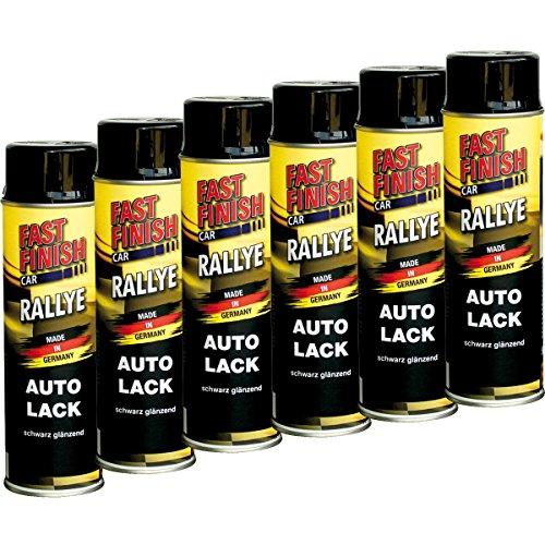 Motip Dupli 430237 - Primer Fast Finish, vernice spray antiruggine, 6 x 500 ml, set da 6 pezzi, colore: nero lucido