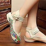 &QQ Chaussures brodées, semelle de tendon, style ethnique, femaleshoes, mode, confortable, chaussures de danse