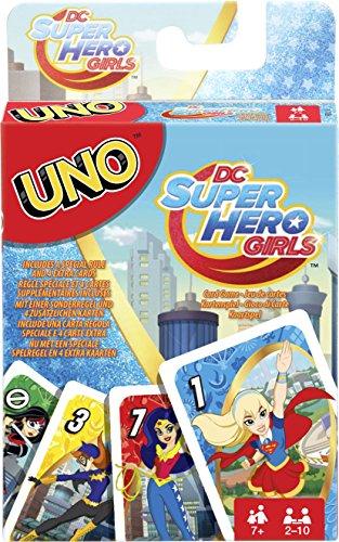 Mattel Games FDJ16 UNO DC Super Hero Girls Kartenspiel für Kinder, geeignet für 2 - 10 Spieler, Spieldauer ca. 15 Minuten, ab 3 Jahren