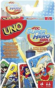 Mattel Juegos fdj16-Uno DC Superhero Girls, Tarjeta Juegos