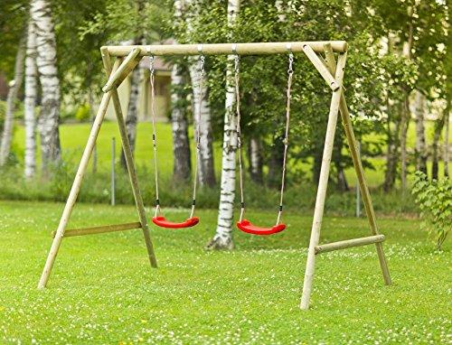 Altalena da Giardino per Bambini in Legno D' Abete Nordico