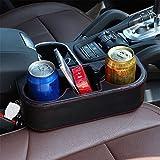RISHIL WORLD Multi-Functional PU Leather Car Seat Crevice Storage Box Seat Gap Organizer Drink Cup Holder