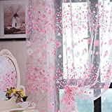 "Wingogo Floral Print Tüll Vorhang Voile Tür Fenster Zimmer Sheer Curtain Panel 37,4 ""x 78,8"""