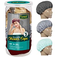 Forest Aroma Reusable Shower Cap Assorted Color Pack of 3