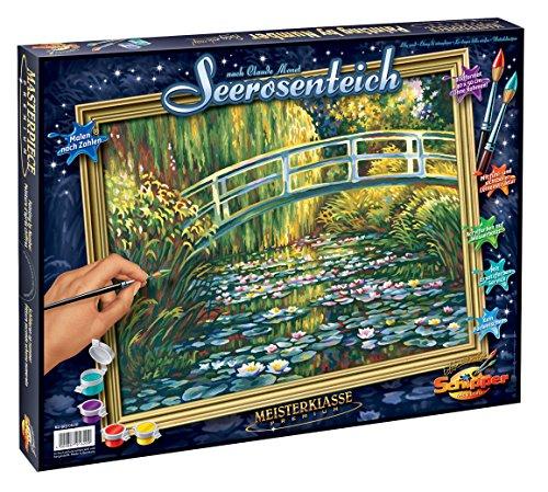 Schipper 609130620 - Malen nach Zahlen - Seerosenteich nach Claude Monet, 40 x 50 cm