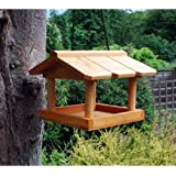 Tableau Feeder. Wildlife Mangeoire à suspendre pour oiseaux sauvages en Bois-Emploi de boules de graisse.