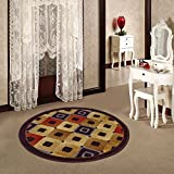 #4: Status Taba Round Mat Multicolour with Antiskid backing