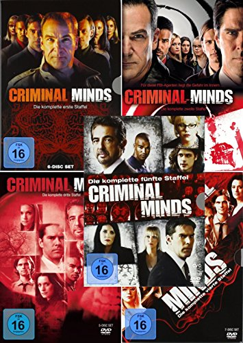 Criminal Minds - Die komplette 1. + 2. + 3. + 4. + 5. Staffel (30-Disc | 5-Boxen) - Tv-season 5 Dvd Mad