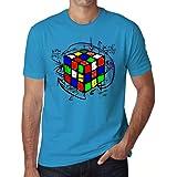 Uomo Maglietta Tee Shirt Rubik's Cube Magic T-Shirt