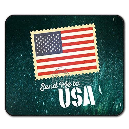 Senden Mich USA Flagge Urlaub Mouse Mat Pad, Vereinigt Rutschfeste Unterlage - Glatte Oberfläche, verbessertes Tracking, Gummibasis von Wellcoda