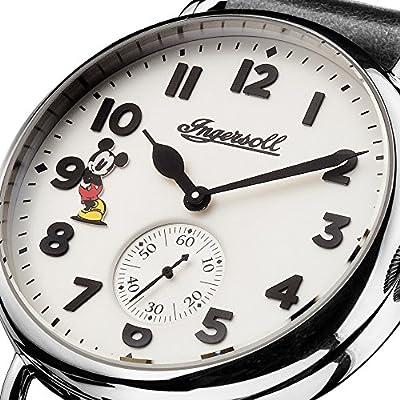 Reloj Cuarzo Disney by Ingersoll para Hombre con Blanco Analogico Y Negro Cuero ID01202 de Disney Ingersoll