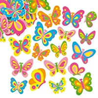 Baker Ross Butterfly Foam Stickers (Pack of 102) For Kids To Decorate, Arts and Crafts