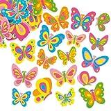 Baker Ross Lot de 102 Autocollants Papillons en Mousse- Idéal pour Les activités Scrapbooking...