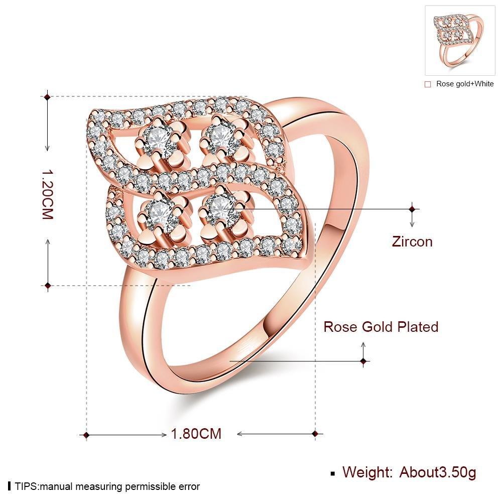Anello Zirconico Geometrico Ambientale , oro rosa , 7