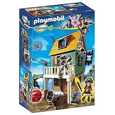 Playmobil - 4796 - Super4 - Fort Des Pirates Camouflé Avec Ruby