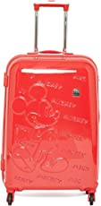 Disney GAMME Mickey Emboss RED- 24 INCHES Cabin/Trolly Luggage/Hard Luggage/Travel/Kids Trolley Bag- with Two Years Warranty