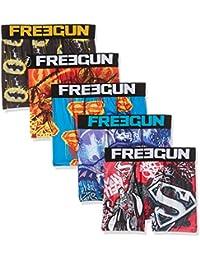 Freegun Justice Leagueboxer Packx5, Boxer Garçon