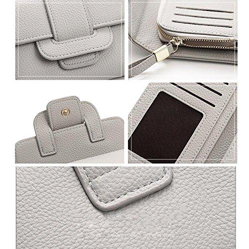 Woolala Donne Pelle Morbida Pu Compact Portafoglio A Portafoglio Multi - Card Slot Contanti Carte Bollette Titolare Breve Borsa Blu Nero