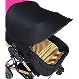 RetroFun Universal Baby Stroller Sunshade,Sail Sun Baby Stroller UV Protection Dustproof Sunshade for Pram Pushchair Buggy and Carrycot