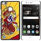 Graphic4You España bandera española Carcasa Funda Rigida para Huawei P9 Lite