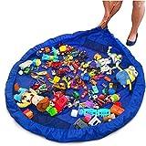 Busta per giocattoli, Organizzatore con Coulisse Lego Tappeto Toocoo Spalla Oversize Tappetino Impermeabile per Picnic e Giochi per Neonati Dimensioni - 150cm (Blu)