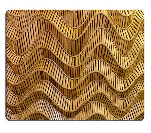 Luxlady Gaming Mousepad immagine ID: 23079001stile moderno motivo Natura di Wave marrone artigianale Weave Texture superficie bambù decorativo per