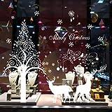 Saingace Weihnachtssticker,Weihnachtself Weihnachtsdekoration Wohnzimmer Schlafzimmer Fenster Wandaufkleber Wandtattoo Wandsticker