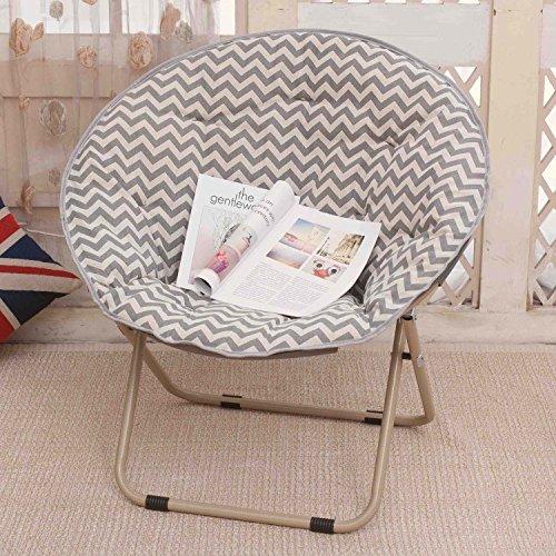 Klappbarer Lounge Sessel im Juli Großer Erwachsener Mond-Stuhl Sun Stuhl-fauler Stuhl-Radar-Stuhl-Recliner-Klappstuhl-runder Stuhl-Sofa Chair (Farbe : 2)