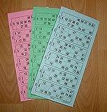 Bingoticket-Block 600 Tickets System 15 aus 90