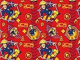 Hemmers Jersey Stoff–Feuerwehrmann Sam,