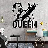 costume Freddie Mercury moderna banda de vinilo tatuajes de pared de la decoración del hogar Nursery Kids Room decoración de la pared decoración de la pared 58 * 58 CM