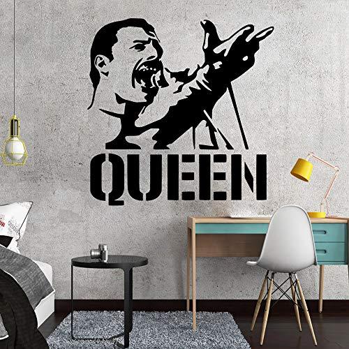 die Mercury Queen Band Vinyl Wandtattoos Wohnkultur Kindergarten Kinderzimmer Wanddekor Wanddekoration 58 * 58 Cm ()