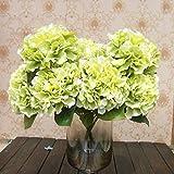 Homgaty - Bouquet di 10 calle artificiali, da sposa verde