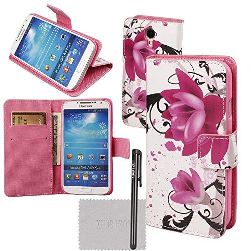 xhorizon® Aquarell magnetisch Folio Leder Tasche Hülle Case Flip Einfach Karten-Mappe für Verschieden Handy iPhone Samsung LG HTC Huawei Sony Motorola #1