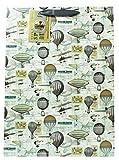 Herren Vintage Hot Air Ballon groß Geschenkpapier Geschenk Tasche Geburtstag Verpackung