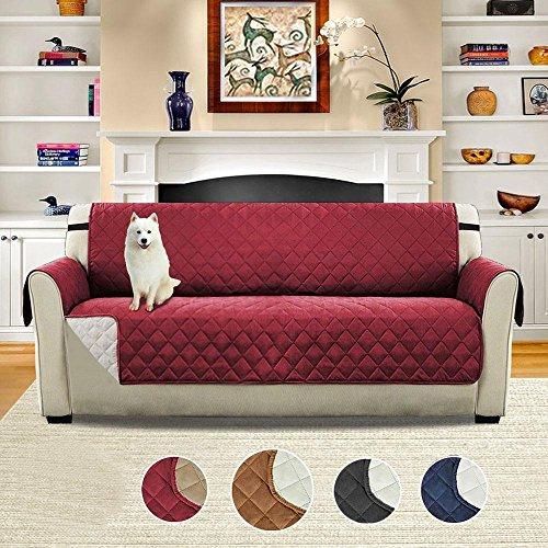 Copertura trapuntata per divano, protezione per poltrona e divano, coperta per animali, resistente all'acqua, tappetino per mobili, 1 persona, per cani e gatti, rose gold-4 pcs, 110x76inch