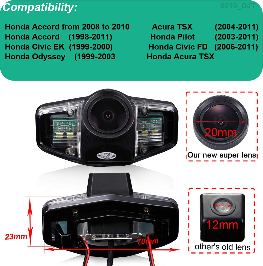Auto-Rckfahrkamera-Kennzeichenleuchte-Rckansicht-Kamera-fr-Honda-Accord-Civic-EKFD-Odyssey-Acura-TSX-Pilot-Imprgniern-Reversing-Rear-View-Camera
