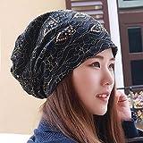 YXLMZ Onorevoli donne cappelli pizzi testa cappuccio incinta il tappo auricolare foulard nero