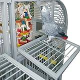 Montana Cages | Papageienkäfig XXL Palace, Voliere, Zimmervoliere, mit Trennwand in dunkel -