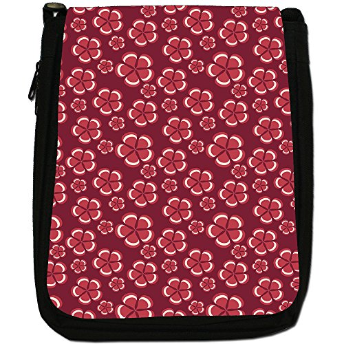 Fancy A Snuggle, Borsa a spalla donna Maroon Flowers With 5 Petals
