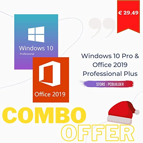 Windows 10 Professional + Office 2019 Professional Plus Activation Key Code Combo Pack (Email / Amazon Massage)